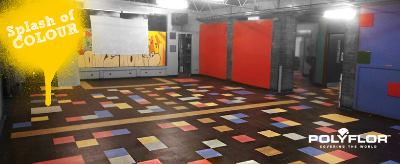 POLYFLEX PLUS PU forms a colourful flooring space for Youth Centre