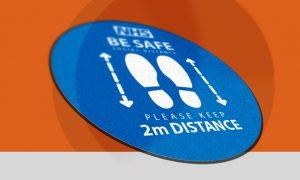 Social Distance Floor Mats